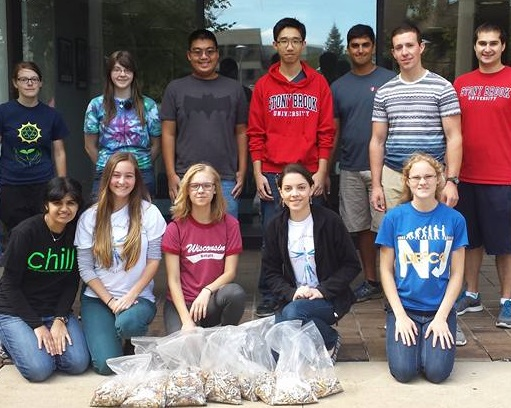 Stony Brook students teamed up to remove tobacco waste from our campus. Photo courtesy of Kathleen Valerio.