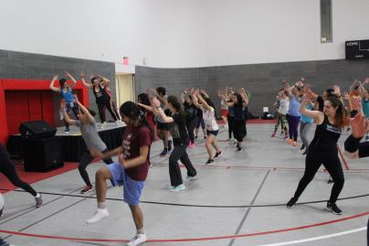 Wednesday's Zumba master class, led by Kristen Vadasz, helped raise money for the Northeast LGBT conference, which will be held at Stony Brook University this year, April 1-3.